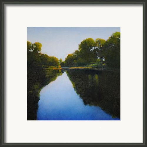 Summer Afternoon On Turtle Creek Framed Print By Cap Pannell