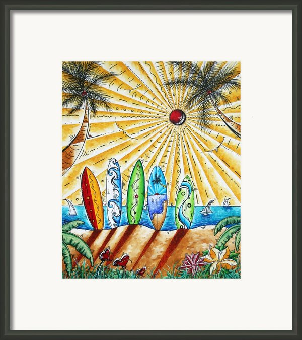 Summer Break By Madart Framed Print By Megan Duncanson