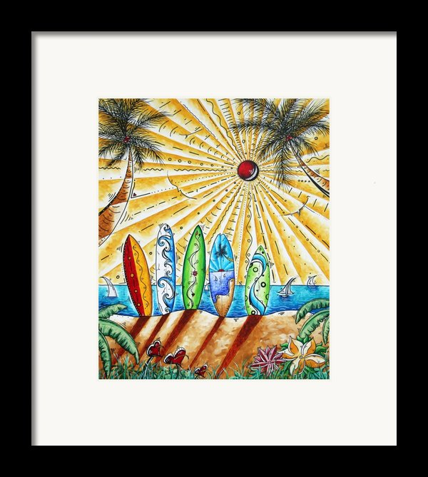 Summer Break By Madart Framed Print By Megan Duncanson