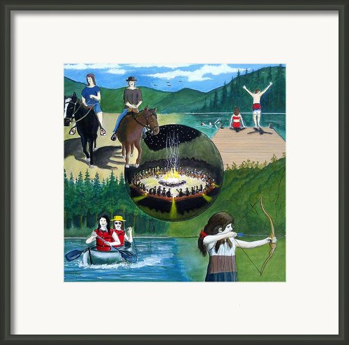 Summer Camp Experience Framed Print By John Lyes