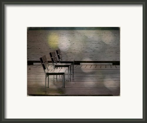 Summer Dock Waterfront Fine Art Photograph Framed Print By Stephan Chagnon Laura Carter