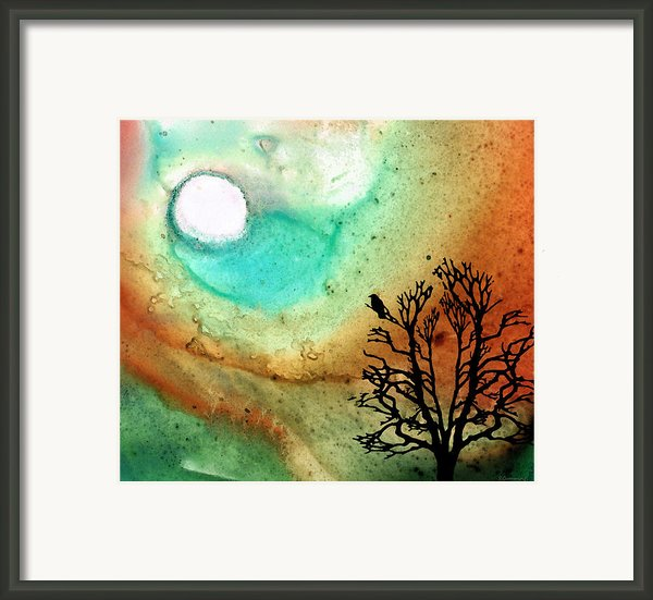 Summer Moon - Landscape Art By Sharon Cummings Framed Print By Sharon Cummings