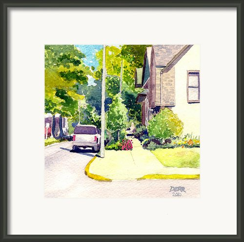 Summer On Se 2nd Street Framed Print By Todd Derr