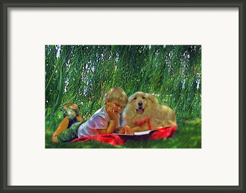 Summer Reading Framed Print By Jane Schnetlage