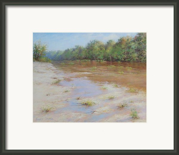 Summer River Framed Print By Nancy Stutes
