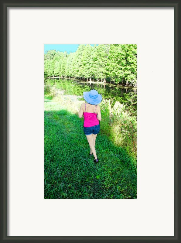 Summer Stroll In The Park - Art By Sharon Cummings Framed Print By Sharon Cummings
