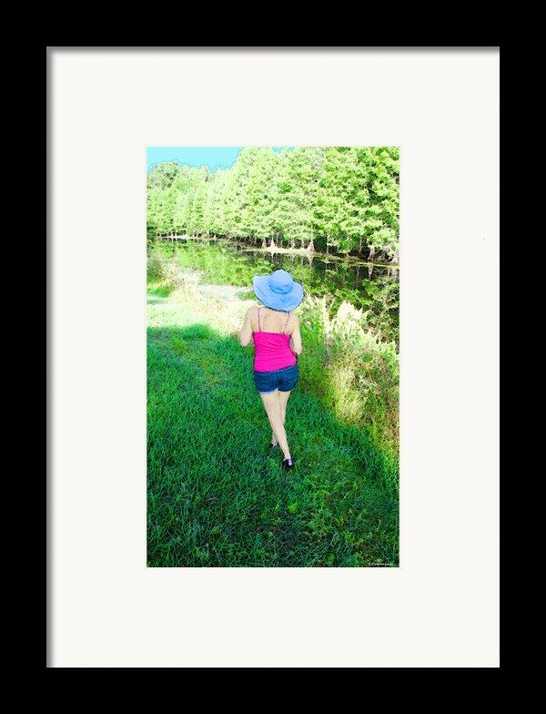 Summer Stroll In The Park - Art By Sharon Cummings Framed Print By Sharon Cummings