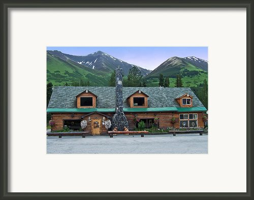 Summit Lake Lodge Alaska Framed Print By Aimee L Maher