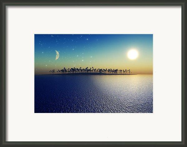 Sun And Moon Framed Print By Aleksey Tugolukov