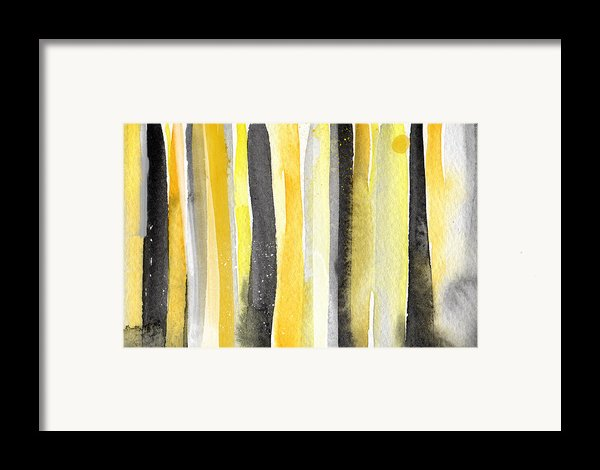 Sun And Shadows- Abstract Painting Framed Print By Linda Woods