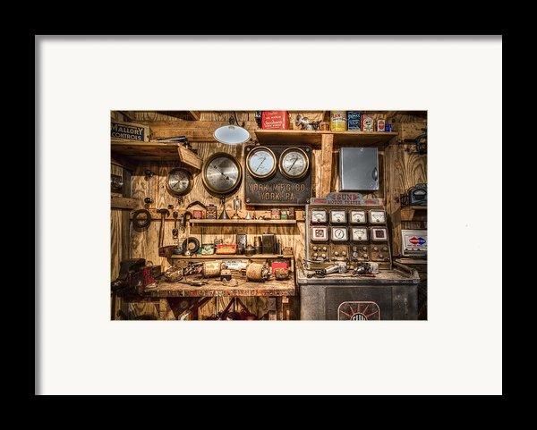 Sun Motor Tester Framed Print By Debra And Dave Vanderlaan