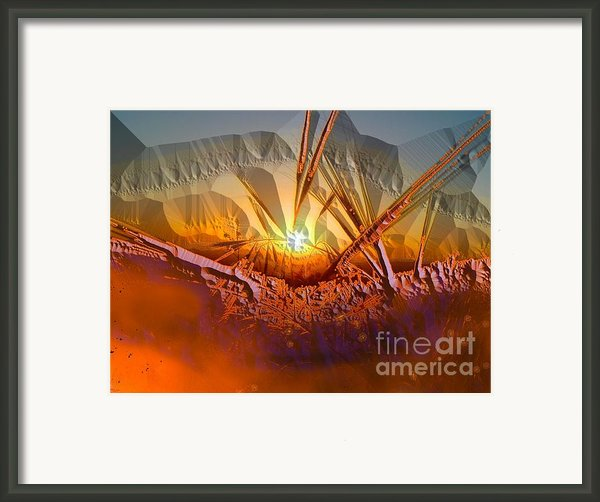 Sun Set Framed Print By Vagik Iskandar