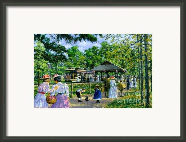 Sunday Picnic Framed Print By Michael Swanson
