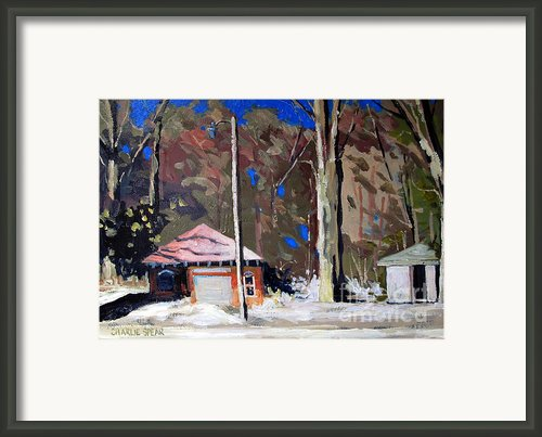 Sunlight On The Golf Sheds Series No.6 Framed Print By Charlie Spear