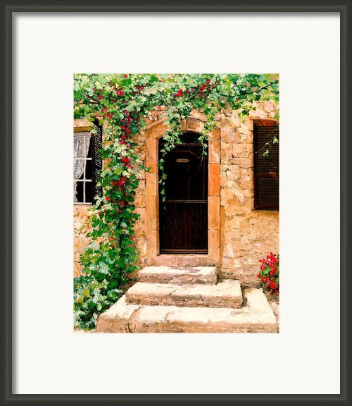 Sunlight Vines - Oil Framed Print By Michael Swanson