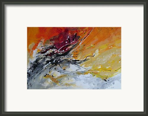 Sunrise - Abstract Art Framed Print By Ismeta Gruenwald
