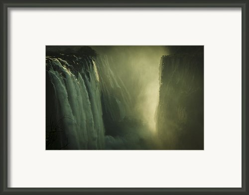 Sunrise At Victoria Falls Framed Print By Alison Buttigieg