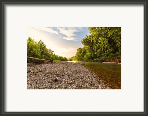 Sunrise Light On Buffalo River Framed Print By Bill Tiepelman