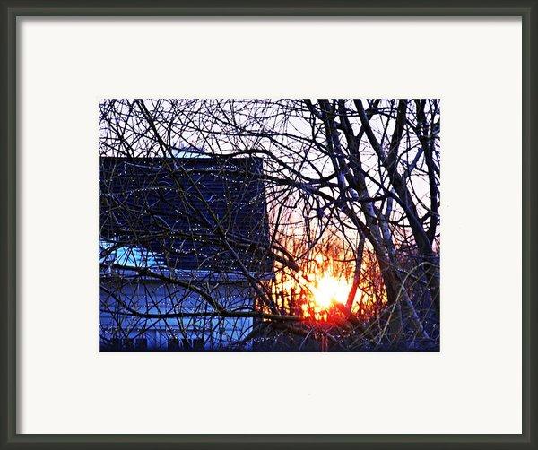 Sunrise Next Door Framed Print By Sarah Loft
