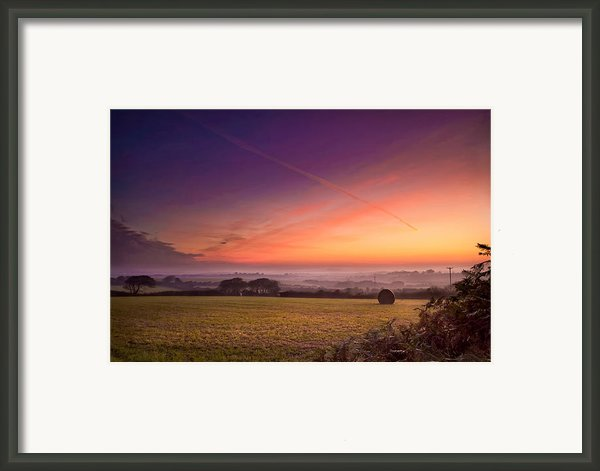 Sunrise Over Cornwall Framed Print By Christine Smart