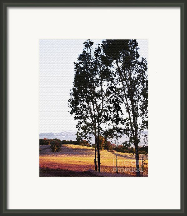 Sunrise Over Northern California Hills Framed Print By Artist And Photographer Laura Wrede