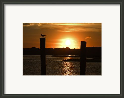Sunrise Over Topsail Island Framed Print By Mike Mcglothlen