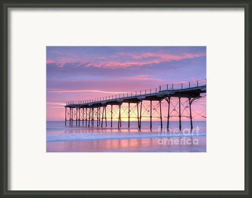 Sunrise Pier Framed Print By Colin And Linda Mckie
