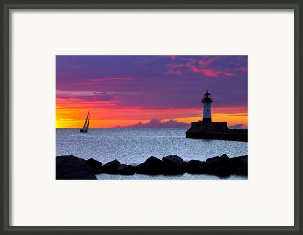 Sunrise Sailing Framed Print By Mary Amerman