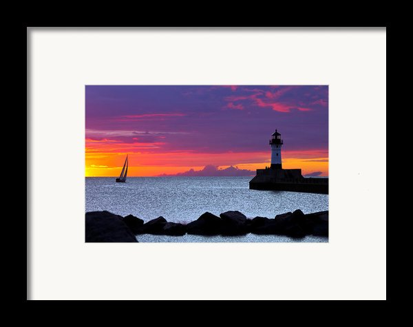 Sunrise Sailing Framed Print By Mary Amerman