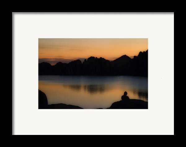 Sunrise Solitude Framed Print By Dave Dilli