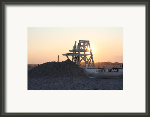 Sunset At Jones Beach Framed Print By John Telfer