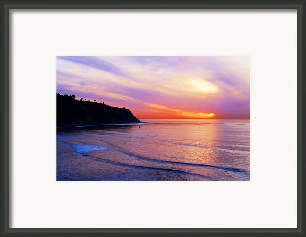 Sunset At Pv Cove Framed Print By Ron Regalado