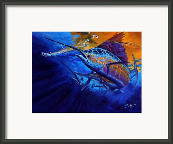 Sunset Bite Framed Print By Mike Savlen