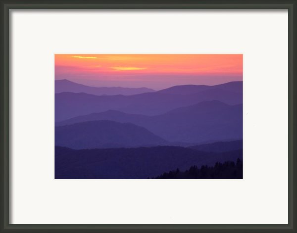 Sunset From Atop The Smokies Framed Print By Andrew Soundarajan