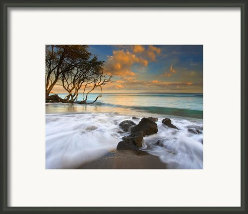 Sunset In Paradise Framed Print By Mike  Dawson