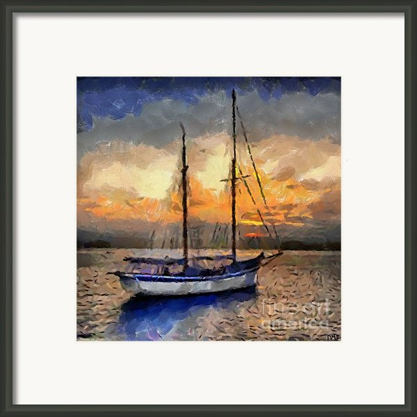 Sunset In The Bay Framed Print By Dragica  Micki Fortuna