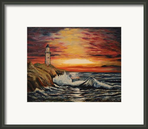 Sunset Framed Print By Michael Kulick
