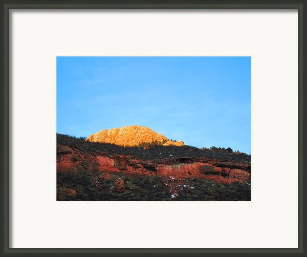 Sunset On Horsetooth Mountain Framed Print By Ric Soulen