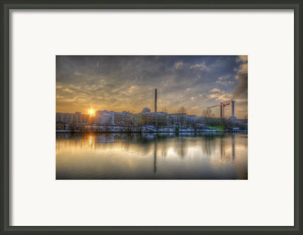 Sunset On The Esifabrik Framed Print By Nathan Wright