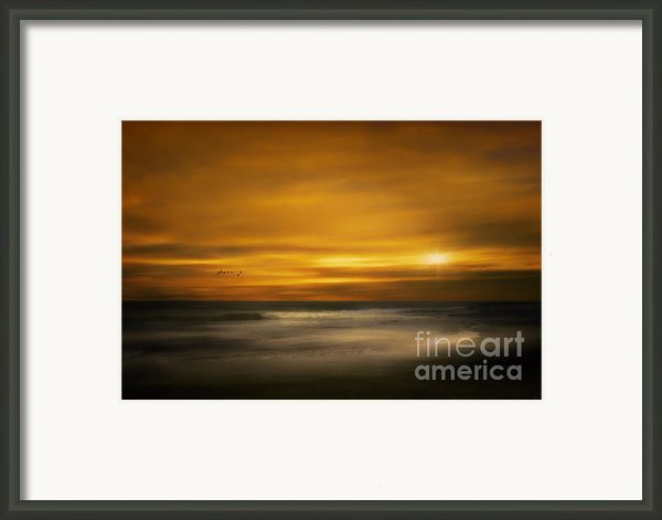 Sunset On The Surf Framed Print By Tom York