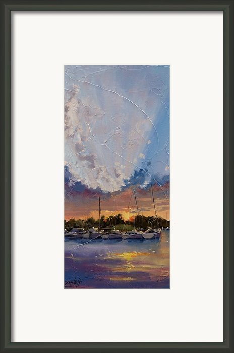 Sunset Over Bay Point Framed Print By Laura Lee Zanghetti