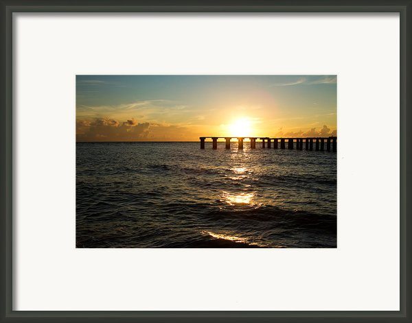 Sunset Over Boca Grande Florida Framed Print By Fizzy Image