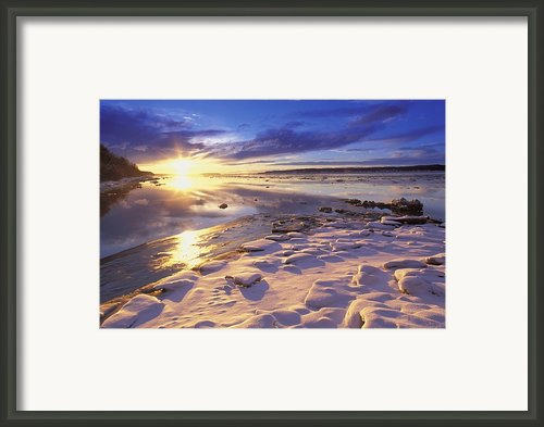 Sunset Over Knik Arm & Six Mile Creek Framed Print By Michael Deyoung