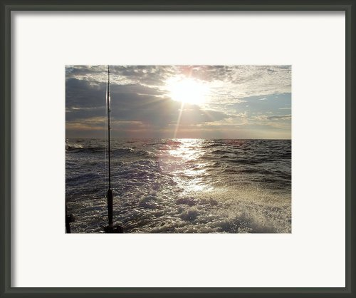 Sunset Over Nj After Fishing Framed Print By John Telfer