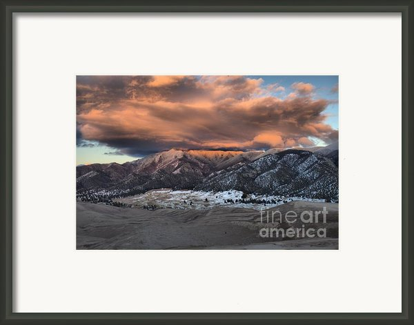 Sunset Over The Dunes Framed Print By Adam Jewell