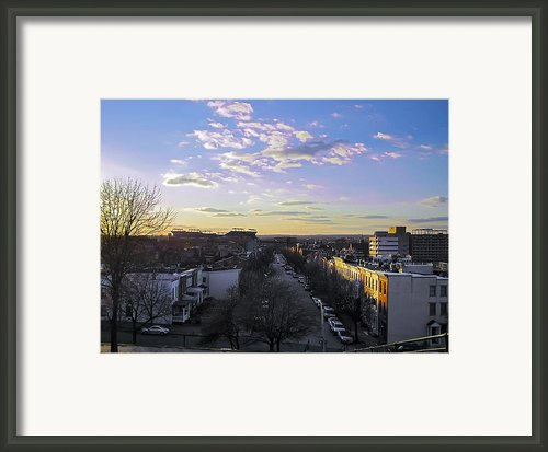 Sunset Row Homes Framed Print By Brian Wallace
