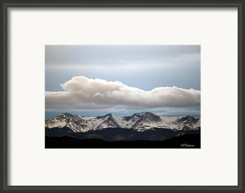 Sunset Snow Cloud Over The Sangres Framed Print By Barbara Chichester