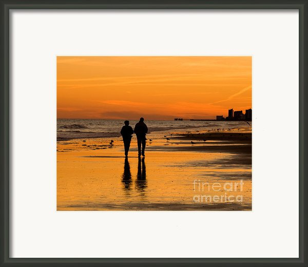Sunset Stroll Framed Print By Al Powell Photography Usa