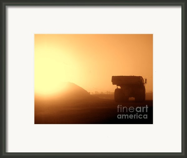 Sunset Truck Framed Print By Olivier Le Queinec