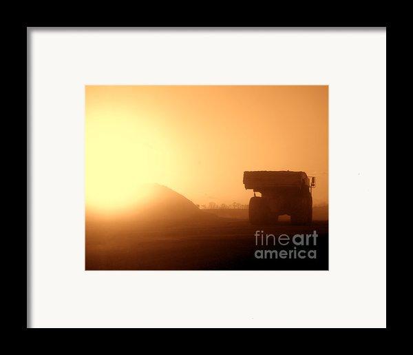 Sunset Truck Framed Print By Olivier Le Queinec